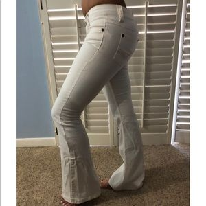Pants - Flared white jeans